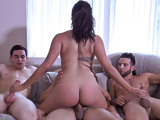 Julie Kay in Triple-Teaming an Ebony Nympho - RealSlutParty